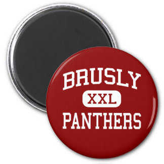Brusly - panteras - High School secundaria - Brusl Imán Redondo 5 Cm