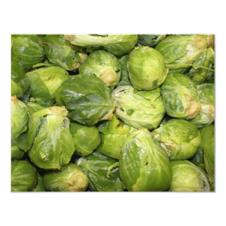 Brussel Sprouts 4.25x5.5 Paper Invitation Card