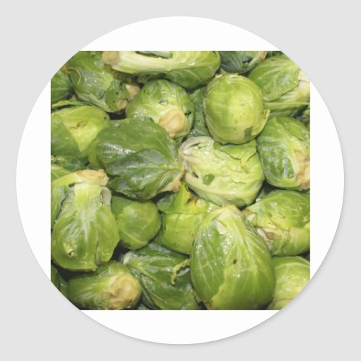 Brussel Sprouts Classic Round Sticker
