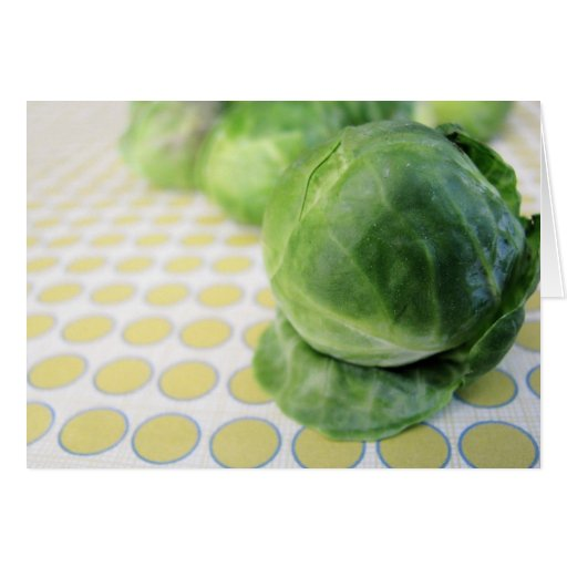 Brussel Sprouts Greeting Cards