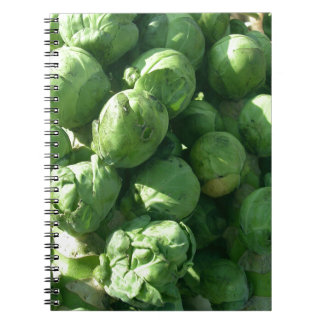 Brussel Sprouts Spiral Note Book