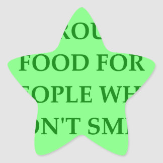 brussel sprouts star sticker