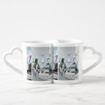Brussels Atomium Photo Collage Coffee Mug Set