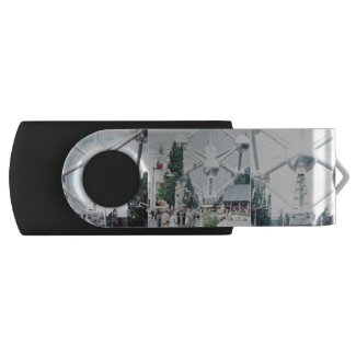 Brussels Atomium Photo Collage Flash Drive
