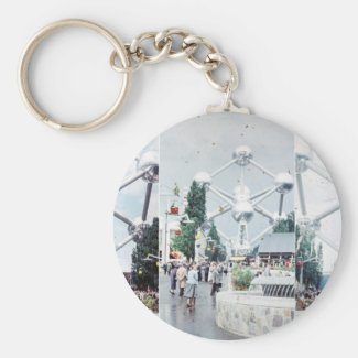 Brussels Atomium Photo Collage Keychain