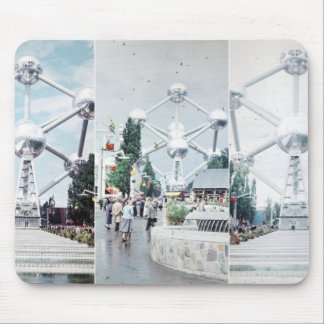 Brussels Atomium Photo Collage Mouse Pad
