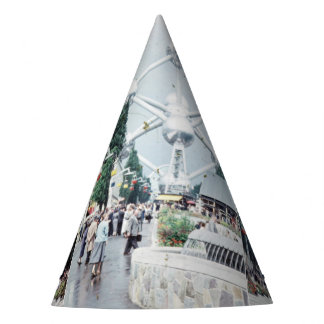 Brussels Atomium Photo Collage Party Hat