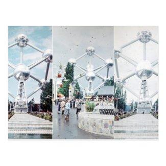 Brussels Atomium Photo Collage Postcard
