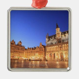 Brussels, Belgium 2 Square Metal Christmas Ornament
