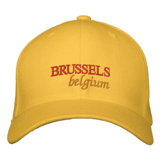 Brussels Belgium Embroidered Embroidered Baseball Caps