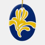 Brussels (Belgium) Flag Christmas Ornament
