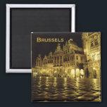 "Brussels Belgium Nighttime Souvenir Fridge Magnets<br><div class=""desc"">Brussels Belgium Souvenir Fridge Magnet.   Tip: dates added to your magnets make a fun chronology of your travels.</div>"