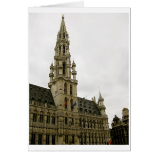 Brussels, Belgium, Townhall, travel, photography Card