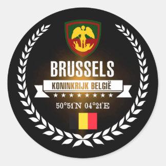 Brussels Classic Round Sticker
