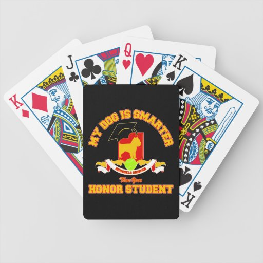 Brussels Griffon Bicycle Playing Cards