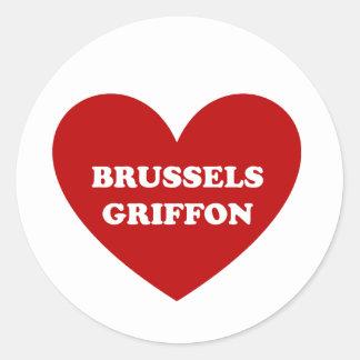 Brussels Griffon Classic Round Sticker