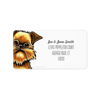 Brussels Griffon Custom Color Label