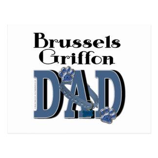 Brussels Griffon DAD Postcard