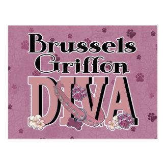 Brussels Griffon DIVA Postcard