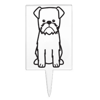 Brussels Griffon Dog Breed Cartoon Cake Topper