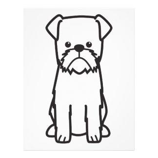 Brussels Griffon Dog Breed Cartoon Flyer