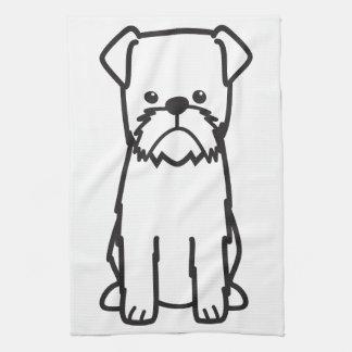 Brussels Griffon Dog Breed Cartoon Hand Towel
