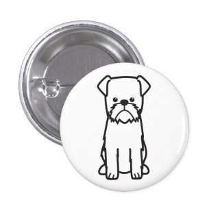 Brussels Griffon Dog Breed Cartoon Pinback Button