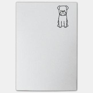 Brussels Griffon Dog Breed Cartoon Post-it® Notes