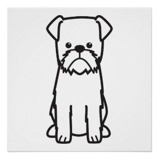 Brussels Griffon Dog Breed Cartoon Poster