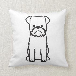 Brussels Griffon Dog Breed Cartoon Throw Pillow