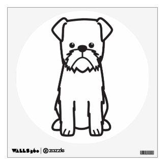 Brussels Griffon Dog Breed Cartoon Wall Sticker