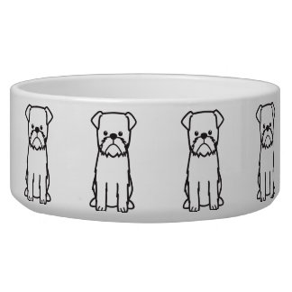 Brussels Griffon Dog Cartoon Bowl