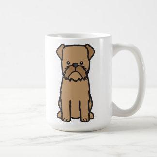 Brussels Griffon Dog Cartoon Coffee Mug