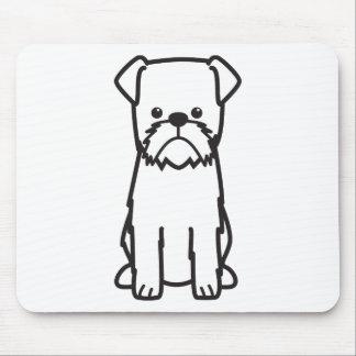 Brussels Griffon Dog Cartoon Mouse Pad