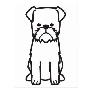Brussels Griffon Dog Cartoon Postcard