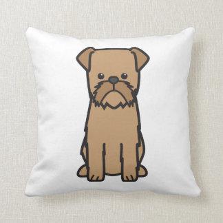 Brussels Griffon Dog Cartoon Throw Pillow