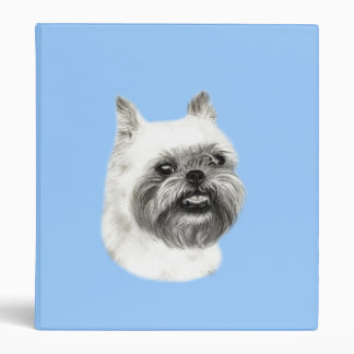 Brussels Griffon Dog Drawing 3 Ring Binder