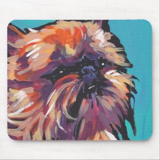Brussels Griffon Dog fun bright pop art Mouse Pad