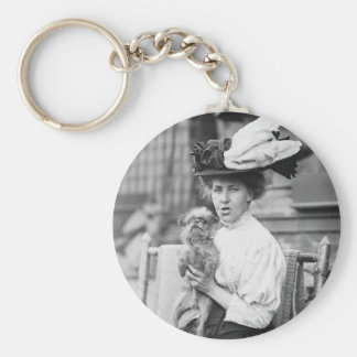 Brussels Griffon, early 1900s Keychain