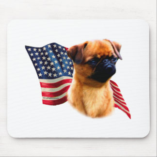 Brussels Griffon Flag Mouse Pad