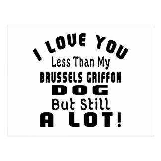 BRUSSELS GRIFFON  FUNNY DESIGNS POSTCARD