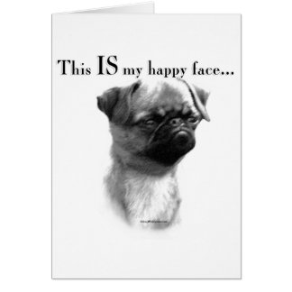 Brussels Griffon Happy Face Card