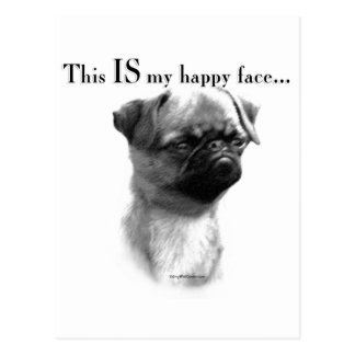 Brussels Griffon Happy Face Postcard