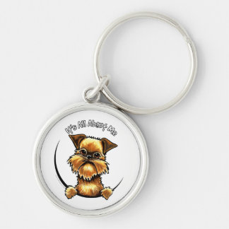 Brussels Griffon Its All About Me Keychain