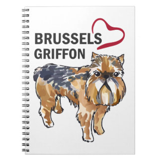 BRUSSELS GRIFFON LOVE SPIRAL NOTE BOOKS