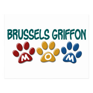 BRUSSELS GRIFFON MOM Paw Print 1 Post Cards