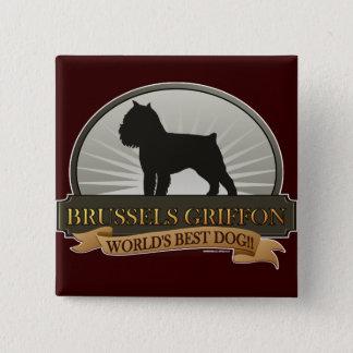 Brussels Griffon Pinback Button