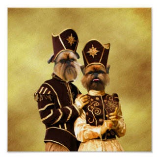 Brussels Griffon Poster Nobility Dogs Gift