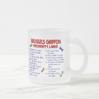 BRUSSELS GRIFFON Property Laws 2 Frosted Glass Coffee Mug