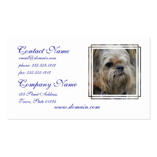 Brussels Griffon Puppy Business Cards